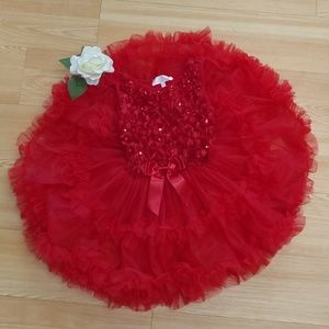 Fancy Red Girl's Dress